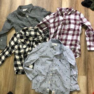 Boys button up shirt lot